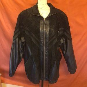 Leather coat really heavy.